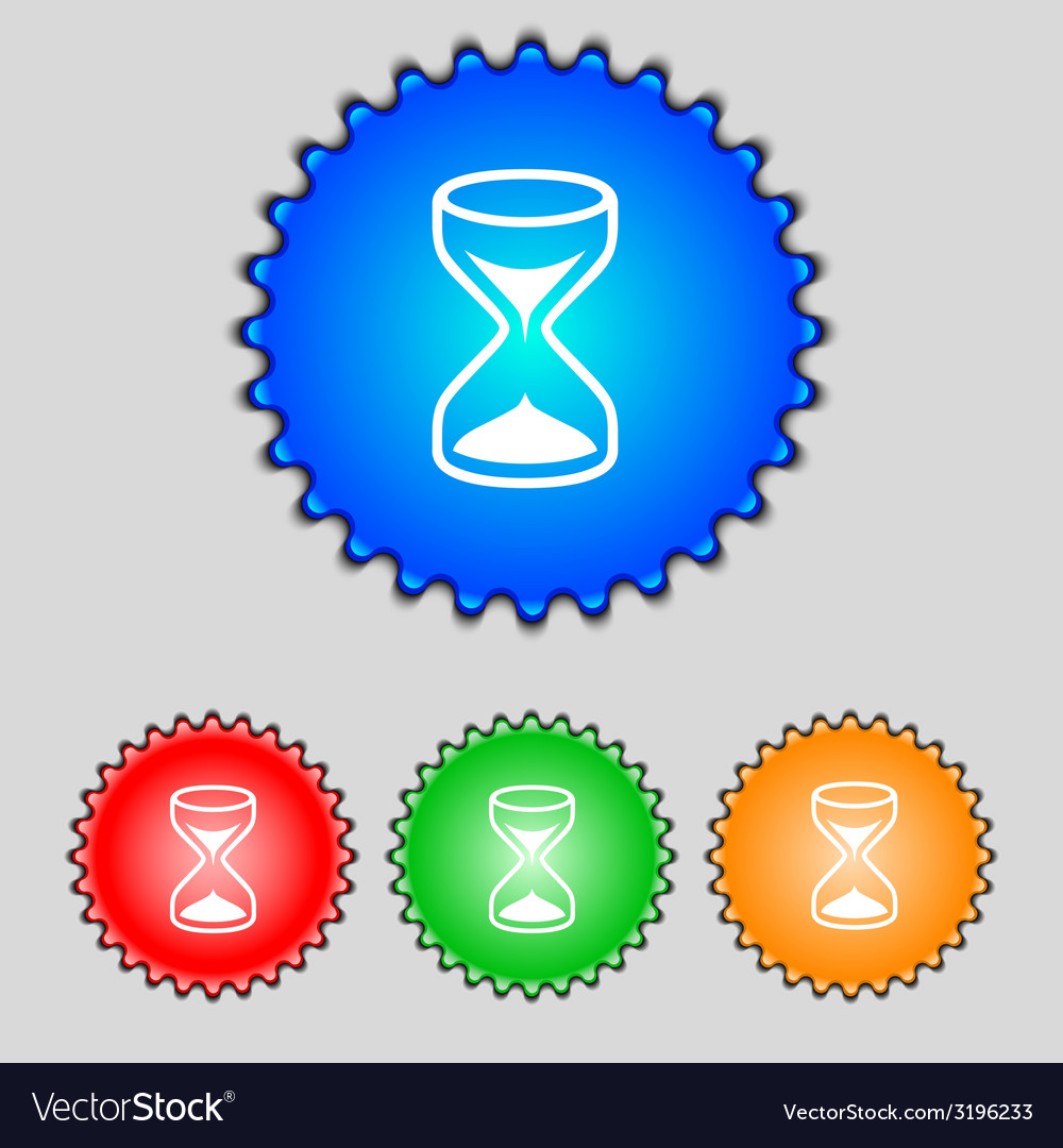 Hourglass sign icon sand timer symbol set of vector | Price: 1 Credit (USD $1)