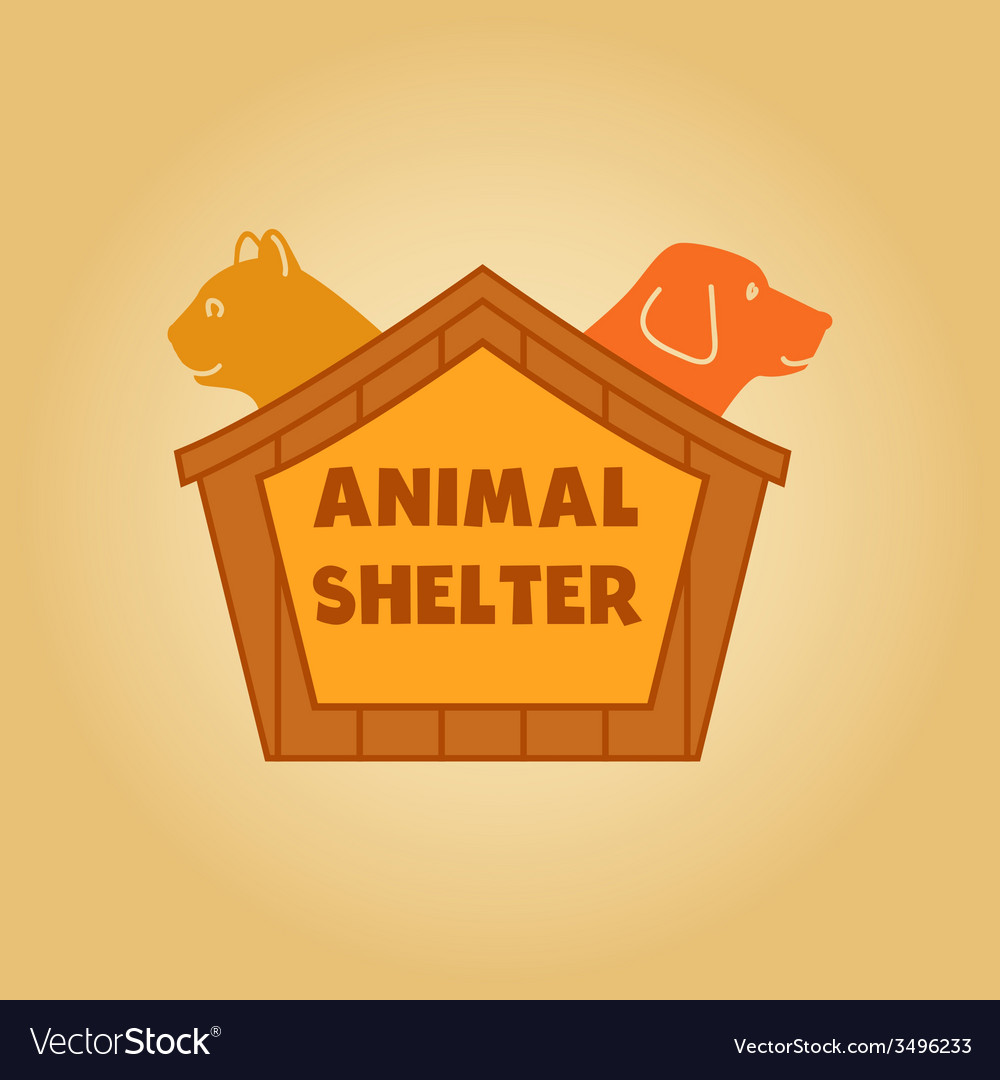 Icon logo for an animal shelter dog and a cat in a vector | Price: 1 Credit (USD $1)