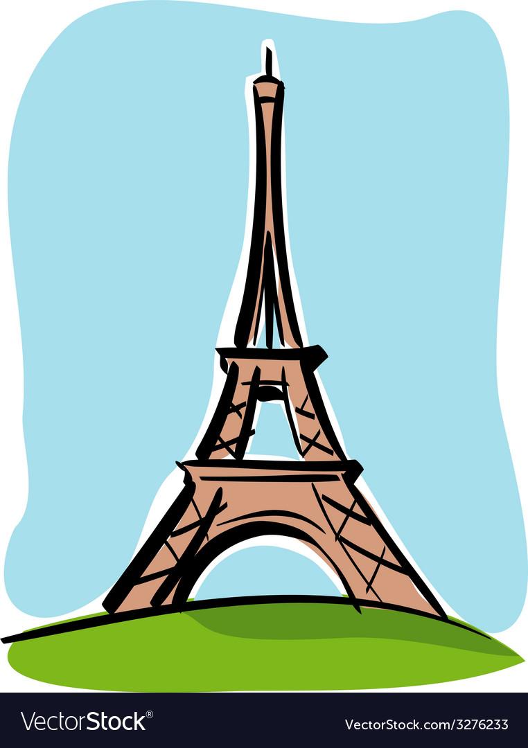 Paris tour eiffel vector | Price: 1 Credit (USD $1)