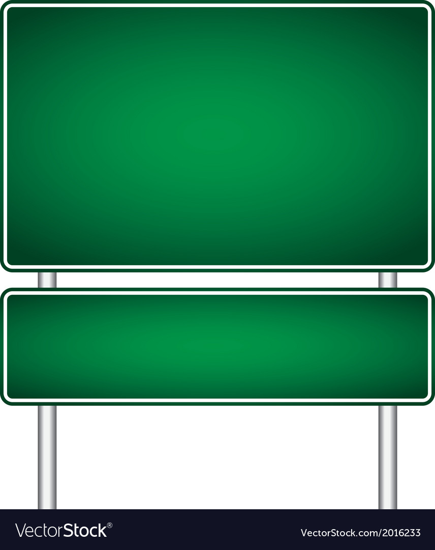 Pole sign road blank isolated vector | Price: 1 Credit (USD $1)