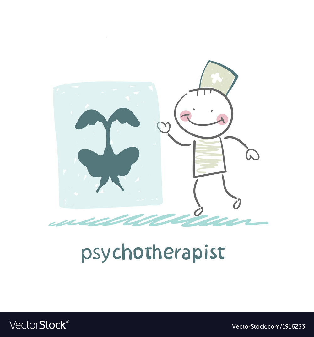 Psychotherapist shows a picture test vector | Price: 1 Credit (USD $1)