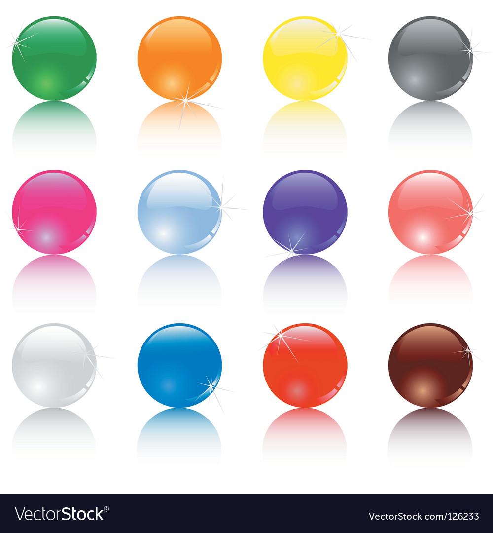 Set of different colored balls vector | Price: 1 Credit (USD $1)