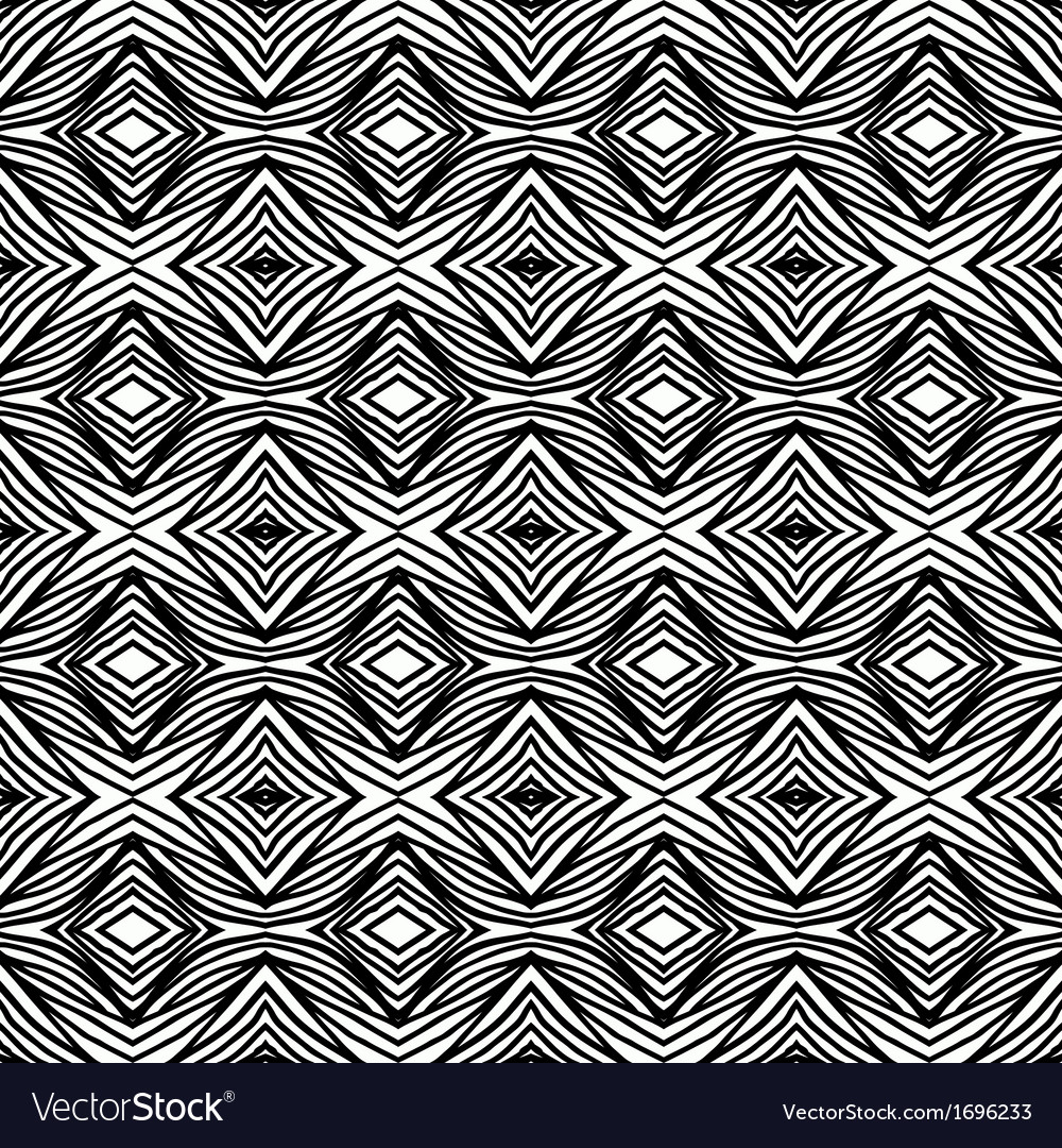 Simple geometric black and white pattern vector | Price: 1 Credit (USD $1)