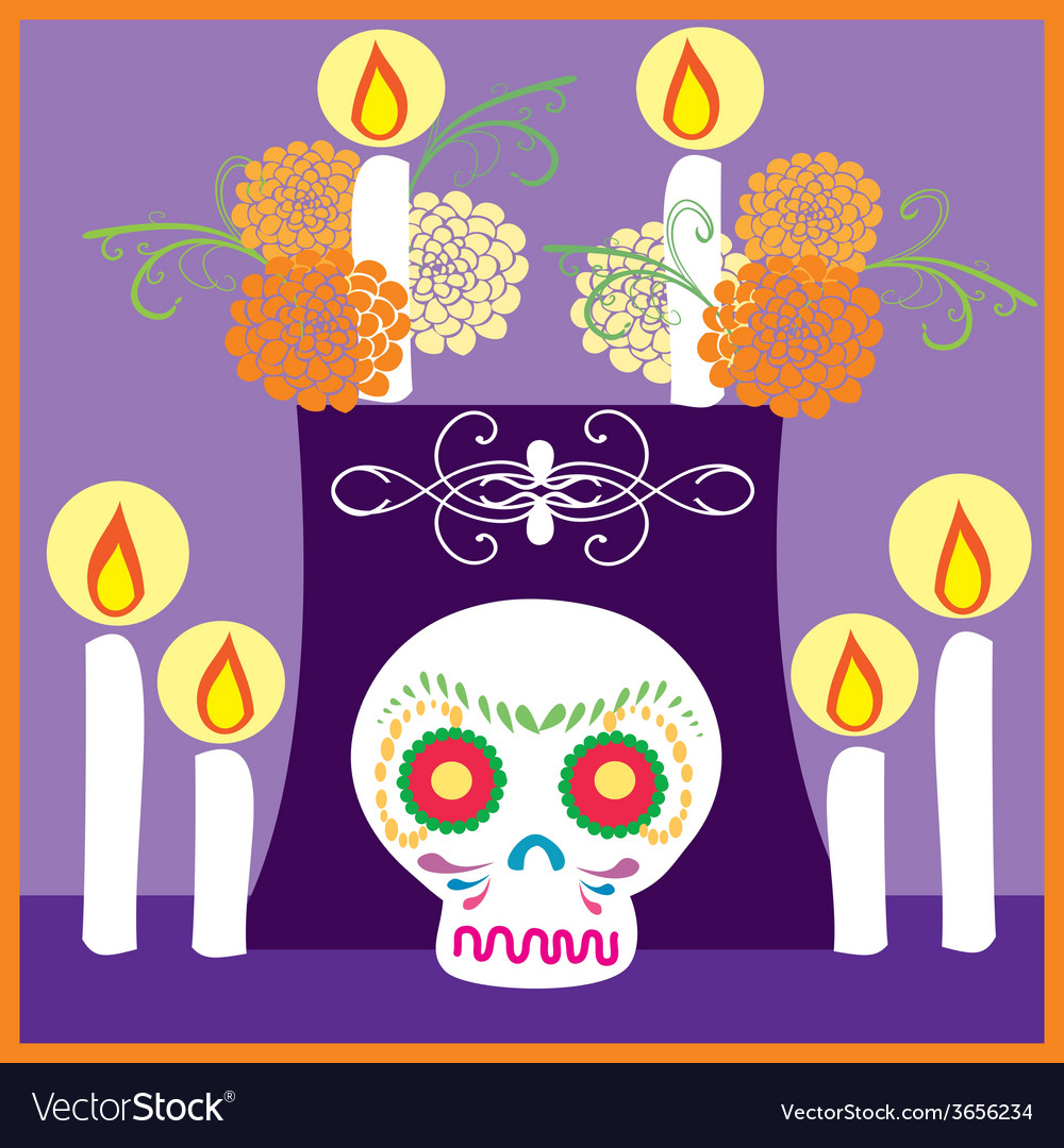 Dia-de-muertos-6 vector | Price: 1 Credit (USD $1)