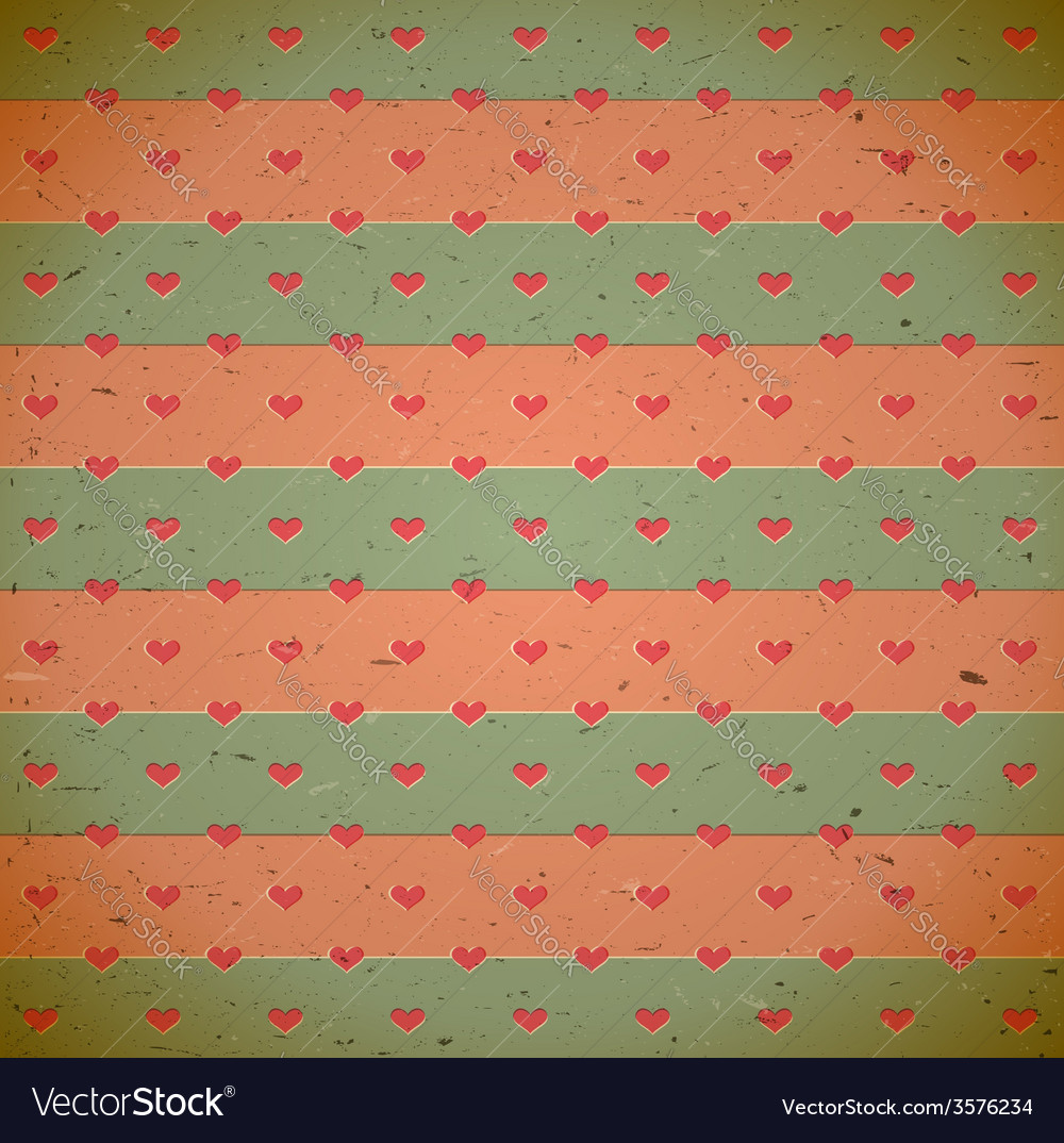 Heart pattern on the old cardboard vector | Price: 1 Credit (USD $1)