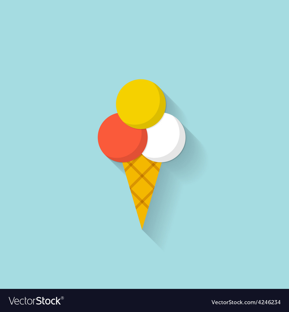 Ice cream flat web icon vector | Price: 1 Credit (USD $1)