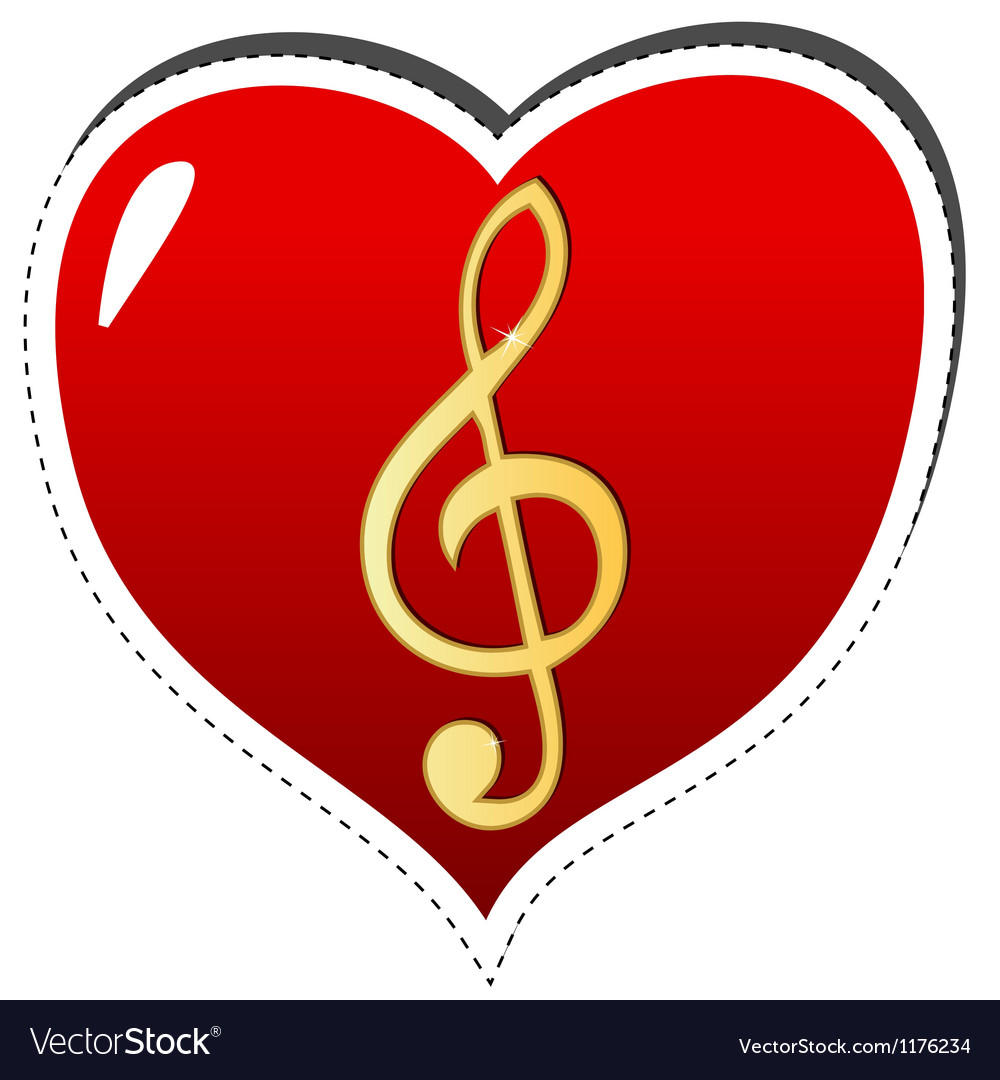 Love music symbol vector | Price: 1 Credit (USD $1)