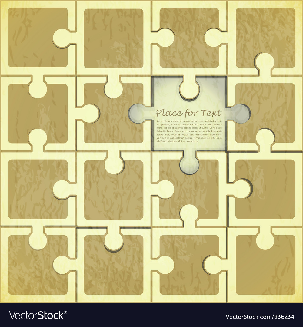 Retro puzzle background vector | Price: 1 Credit (USD $1)