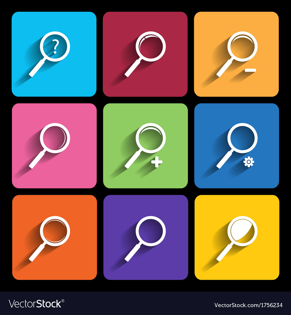 Search icon series in metro style vector | Price: 1 Credit (USD $1)