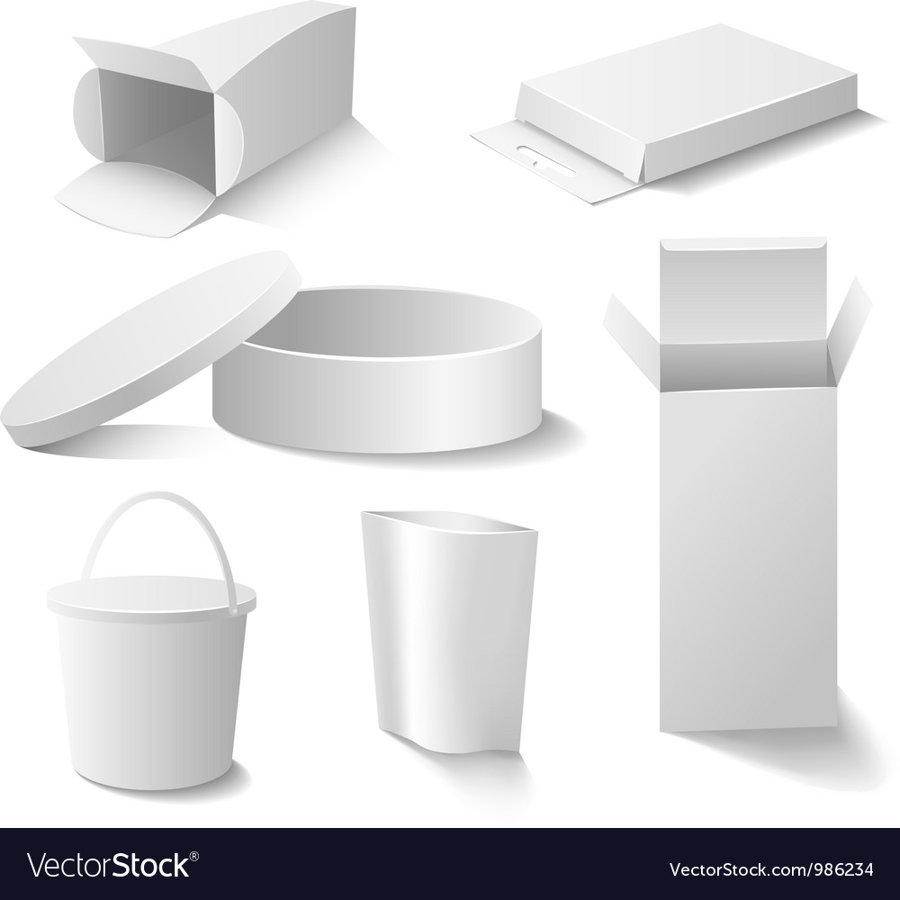 White boxes set vector | Price: 1 Credit (USD $1)