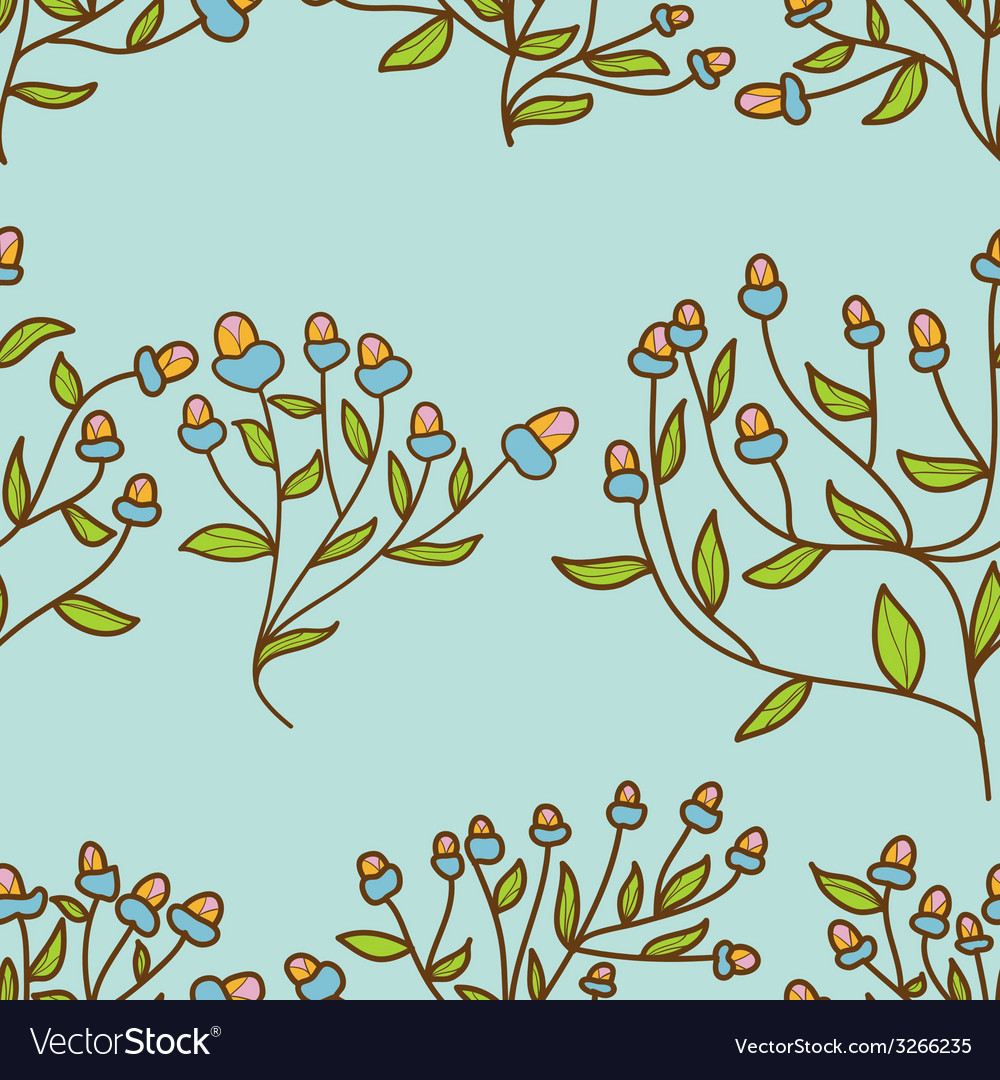 Abstract flower bud pattern seamless texture vector | Price: 1 Credit (USD $1)