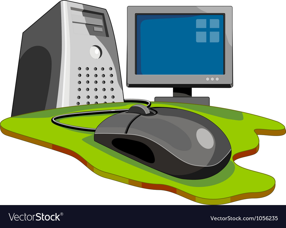Computer mouse connected globe retro vector | Price: 3 Credit (USD $3)