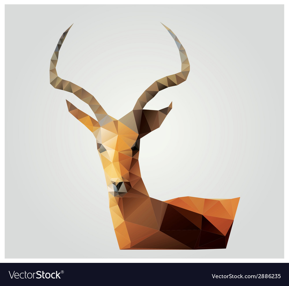 Geometric polygon antelope triangle pattern design vector | Price: 1 Credit (USD $1)