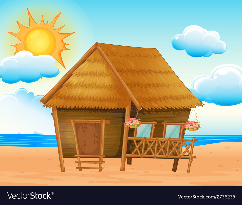 House on the beach vector | Price: 1 Credit (USD $1)
