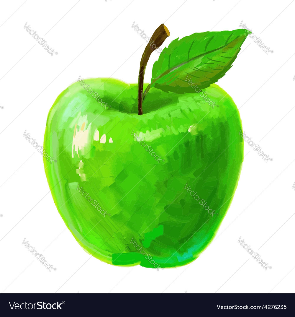 Picture of apple vector   Price: 1 Credit (USD $1)