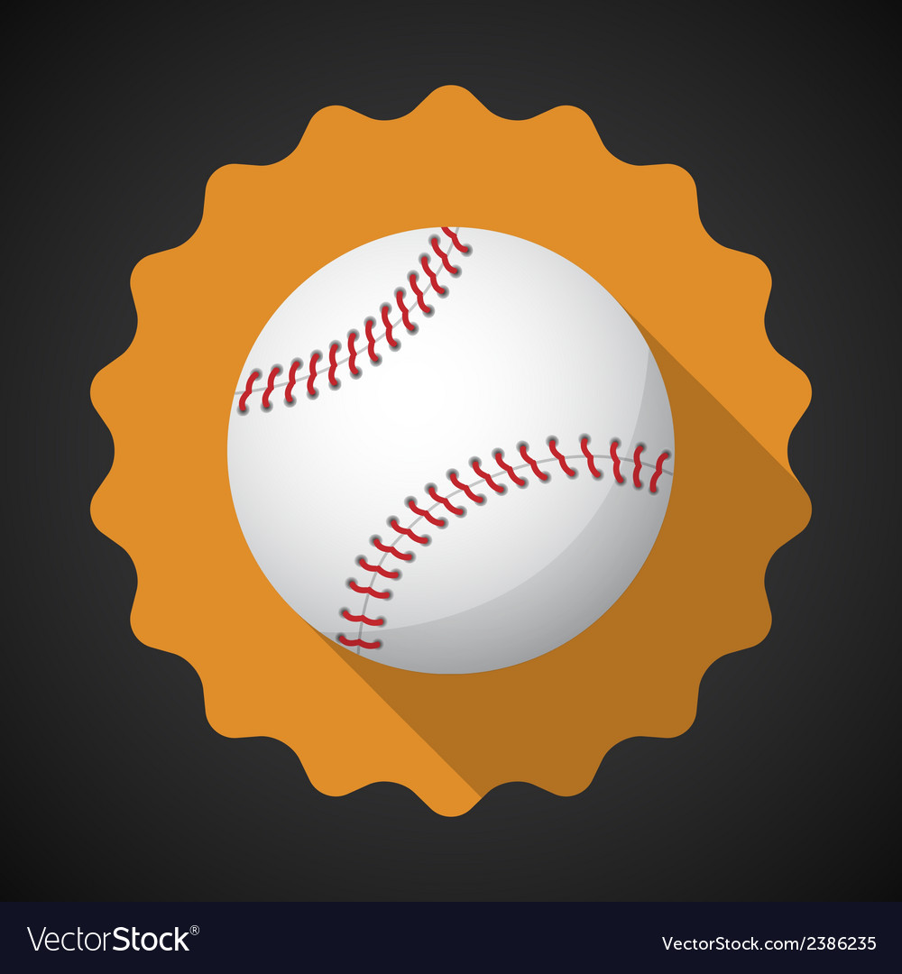 Sport ball baseball flat icon background vector | Price: 1 Credit (USD $1)