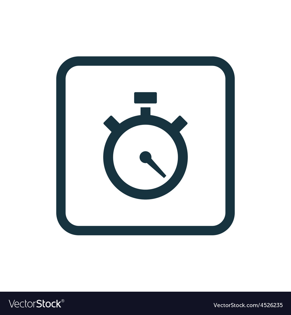 Timer icon rounded squares button vector | Price: 1 Credit (USD $1)