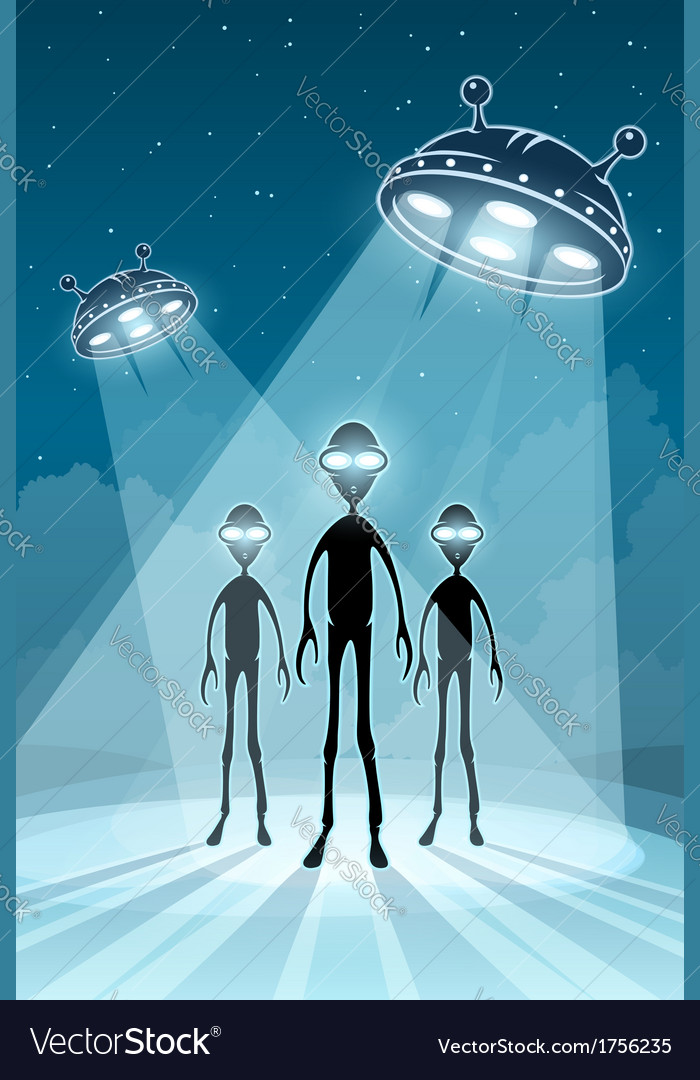 Ufo alien newcomers vector | Price: 1 Credit (USD $1)