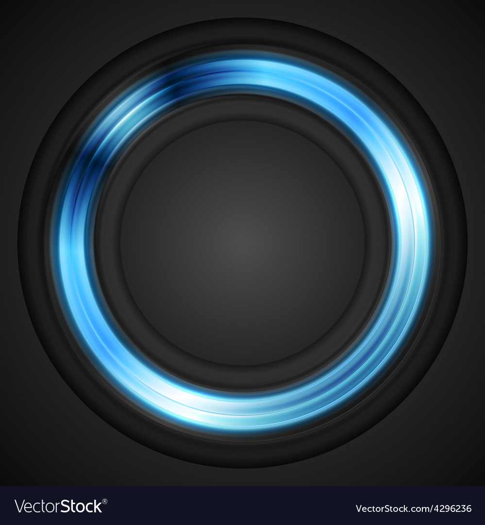 Blue glowing circle logo vector | Price: 1 Credit (USD $1)
