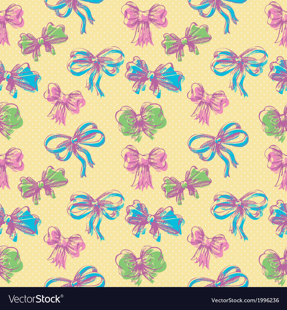 Bow seamless pattern vector | Price: 1 Credit (USD $1)