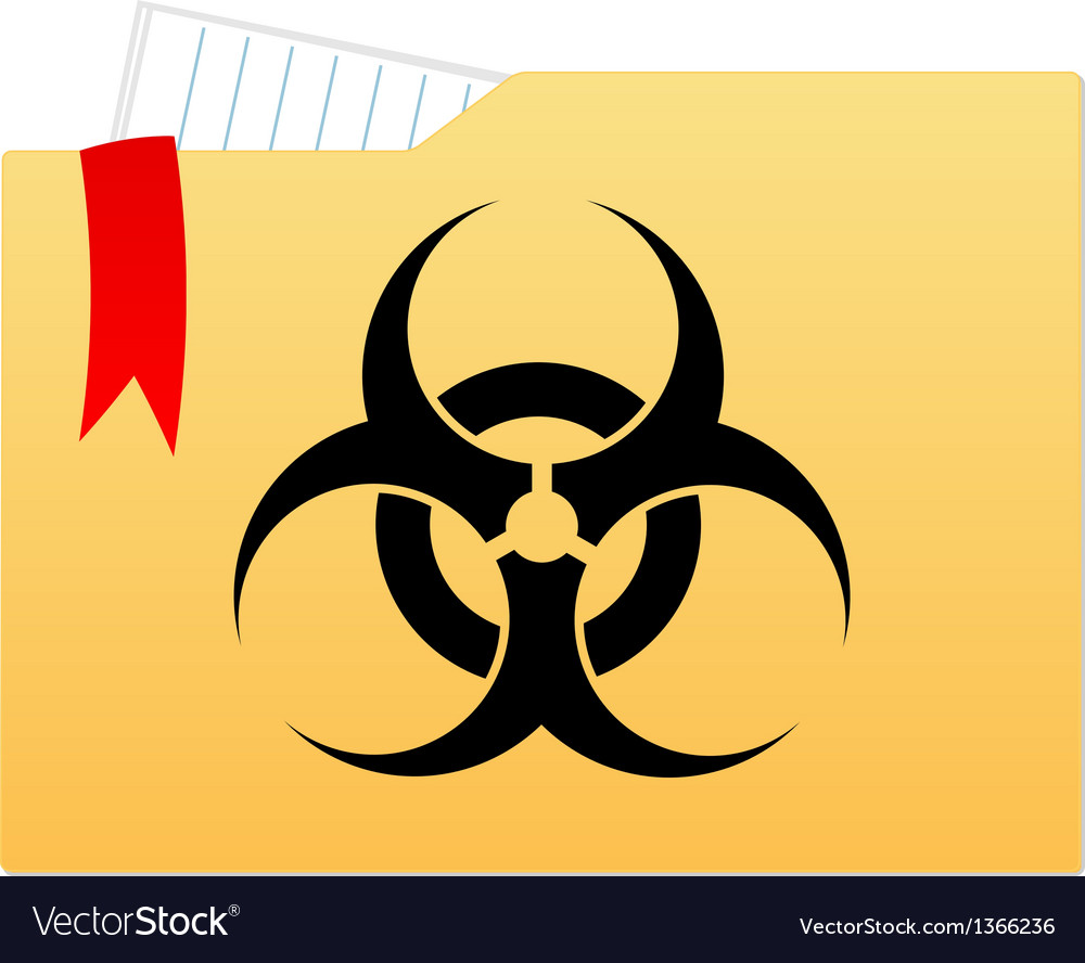 File folder with bio hazard sign vector | Price: 1 Credit (USD $1)