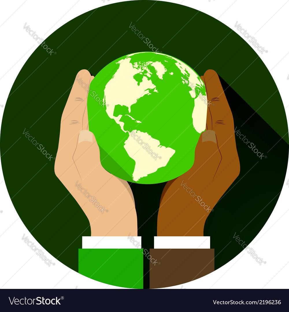 Globe hand 04 vector | Price: 1 Credit (USD $1)