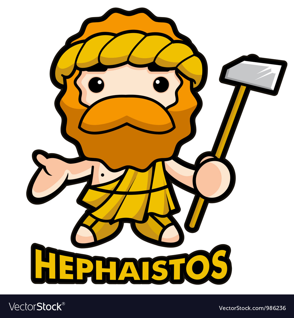 God of fire hephaestus vector | Price: 1 Credit (USD $1)