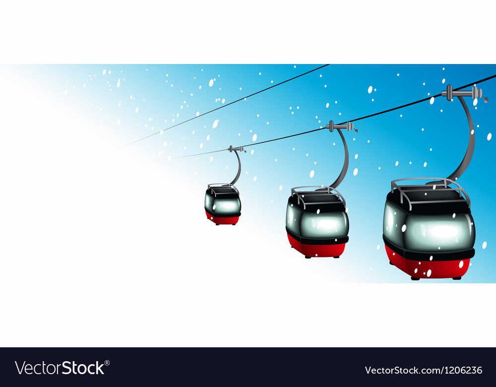 Gondolas on cableways vector | Price: 1 Credit (USD $1)
