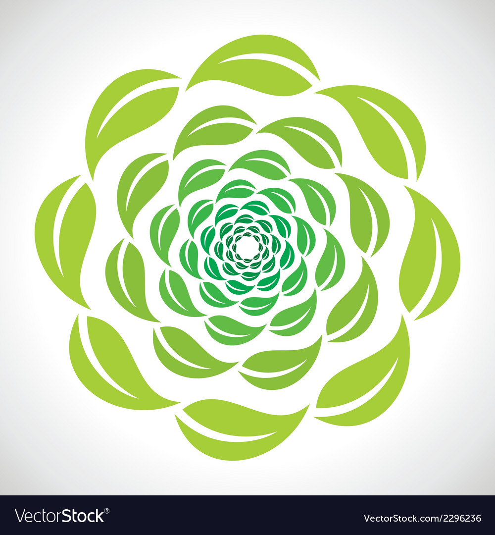 Green leaf swirl design vector | Price: 1 Credit (USD $1)