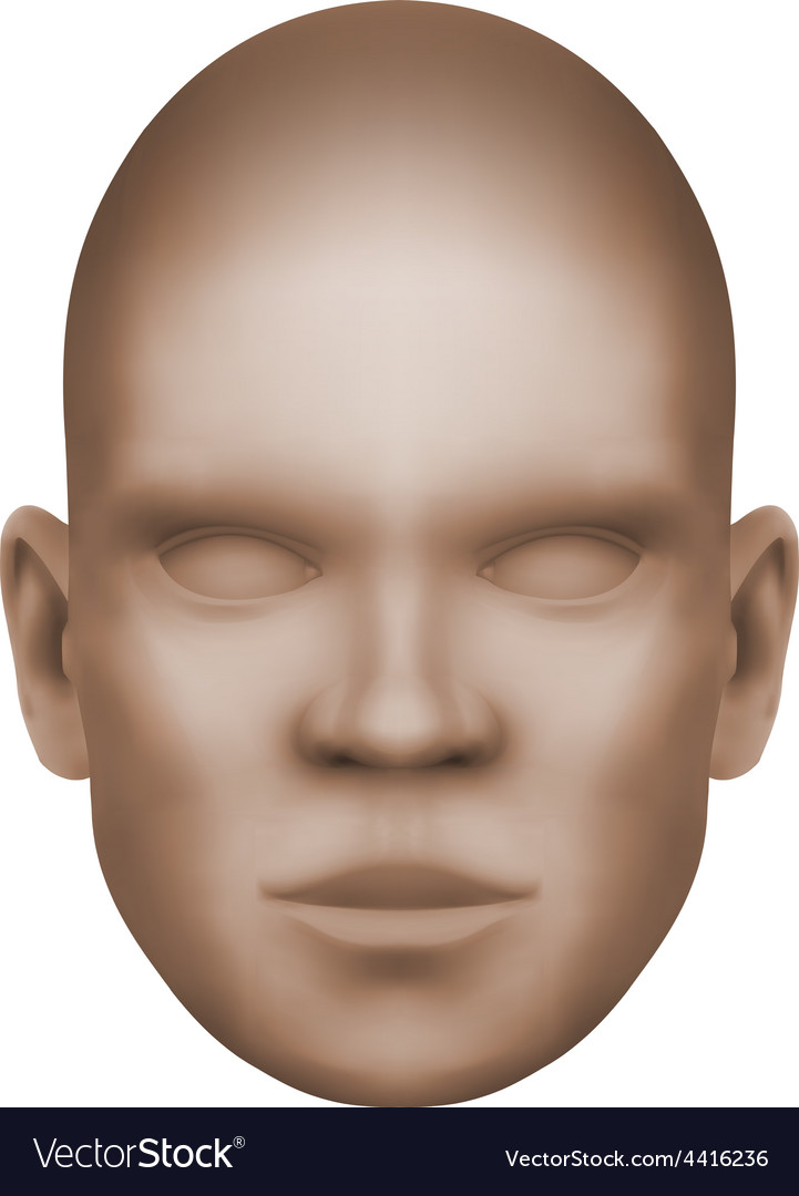 Imaginary human face isolated three-dimensional vector | Price: 1 Credit (USD $1)