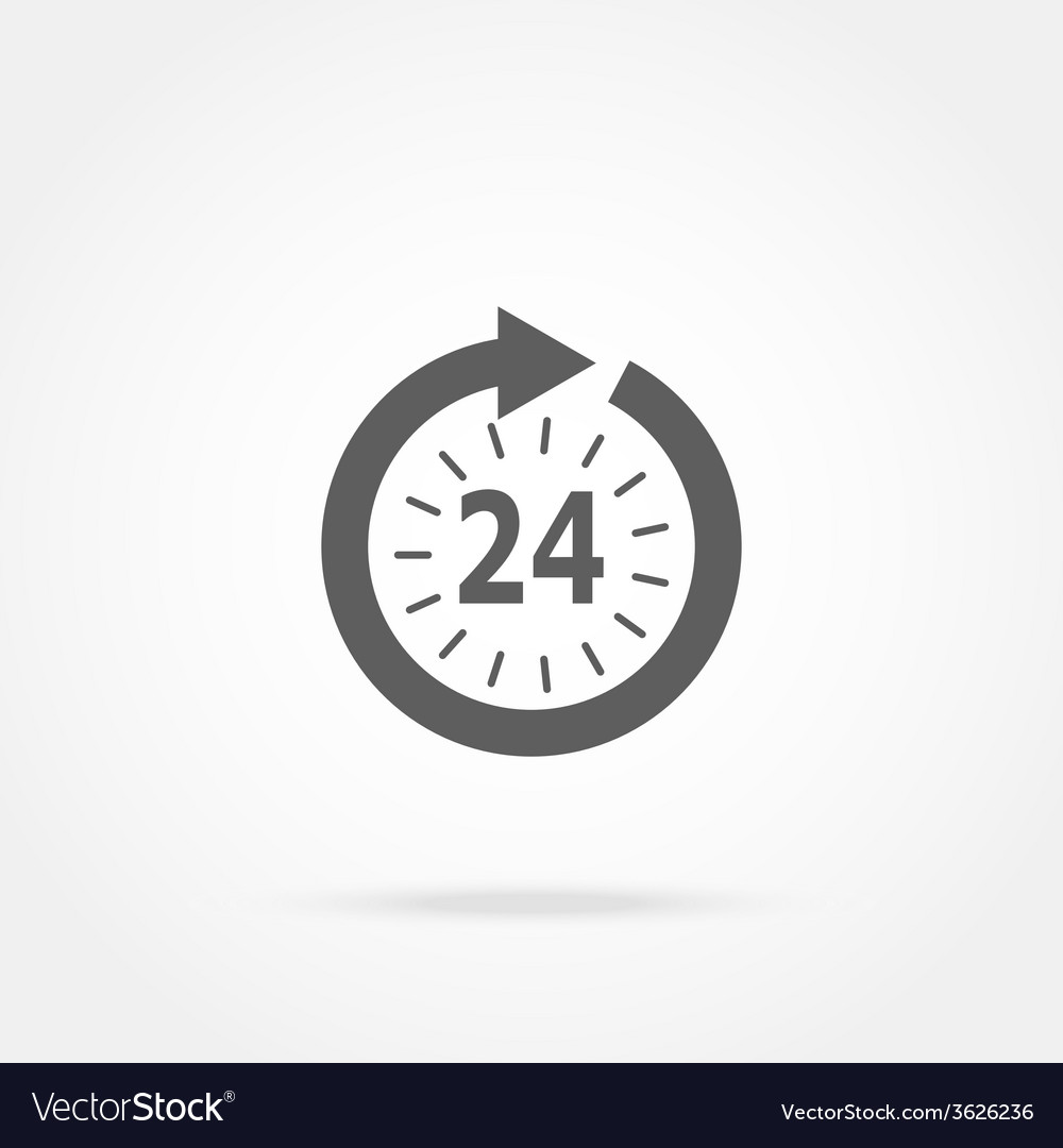 Opening hours icon vector | Price: 1 Credit (USD $1)
