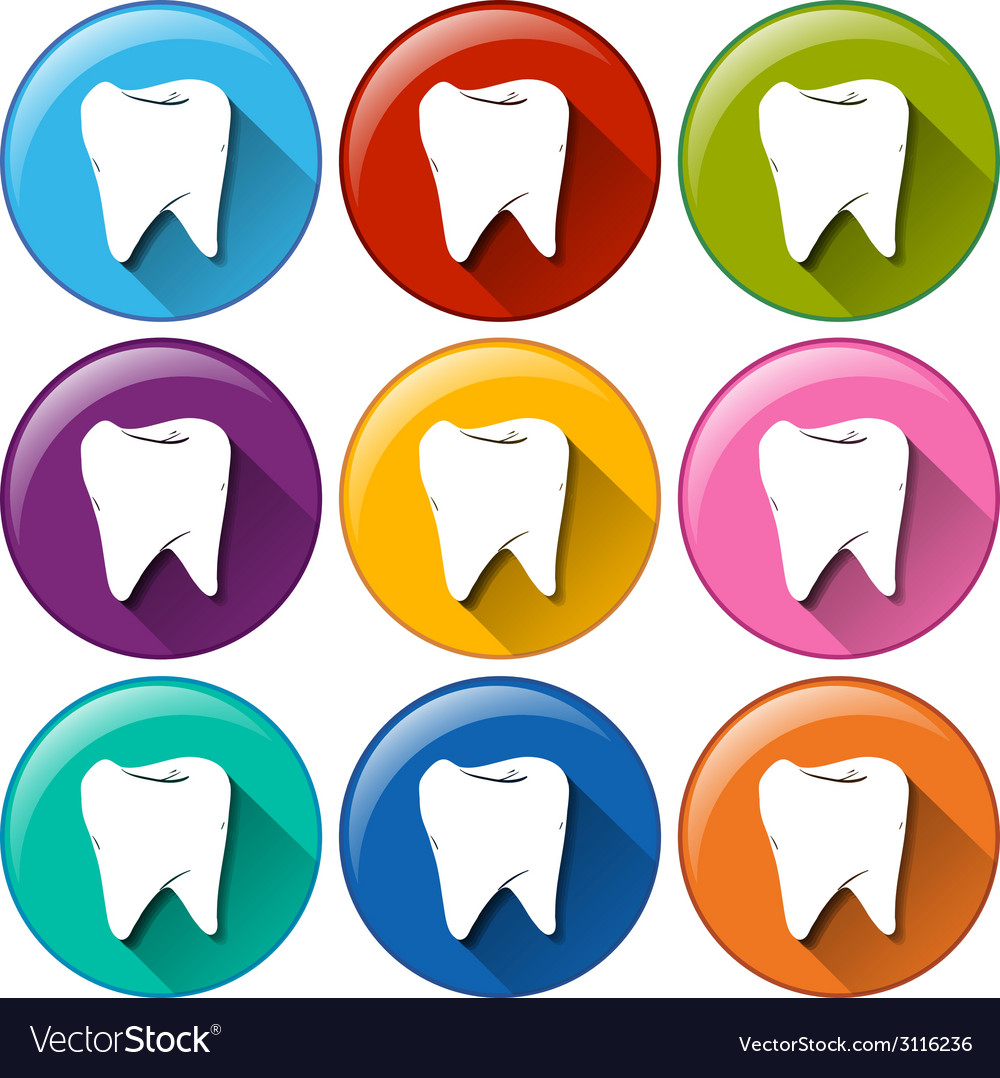 Tooth buttons vector | Price: 1 Credit (USD $1)