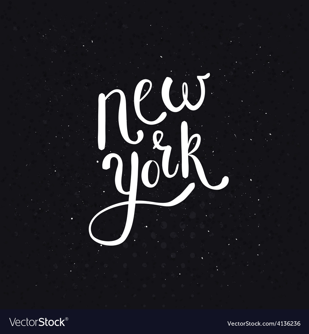 White new york texts on dotted black background vector | Price: 1 Credit (USD $1)