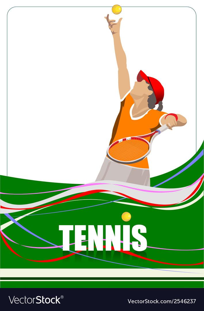 Al 0807 tennis 04 vector | Price: 1 Credit (USD $1)