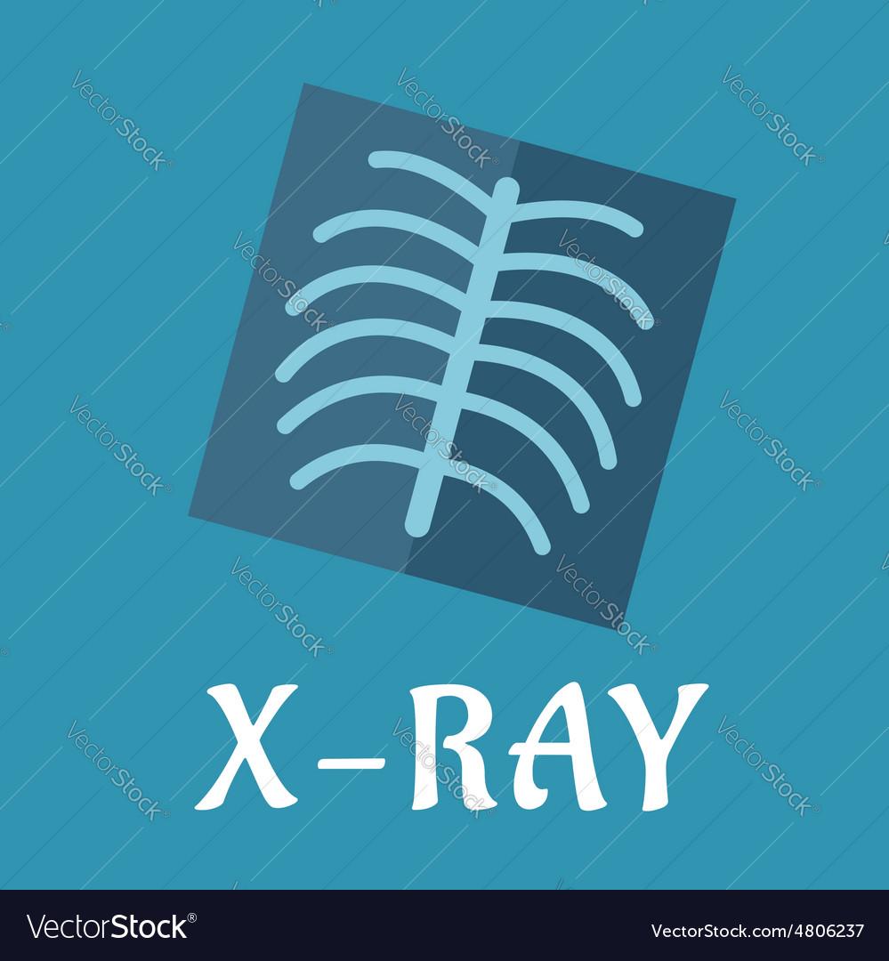 Blue medical flat xray icon vector
