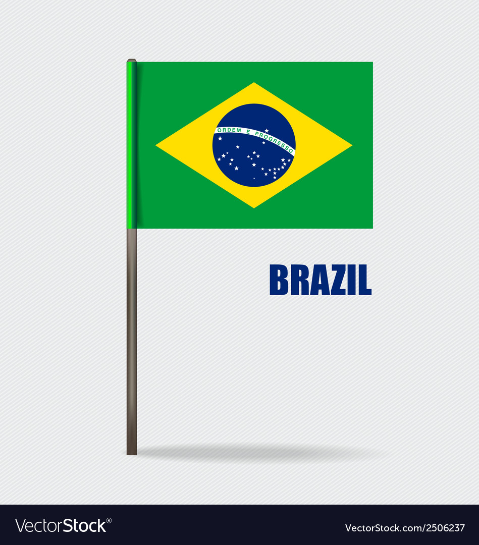 Brazil flags concept design vector | Price: 1 Credit (USD $1)