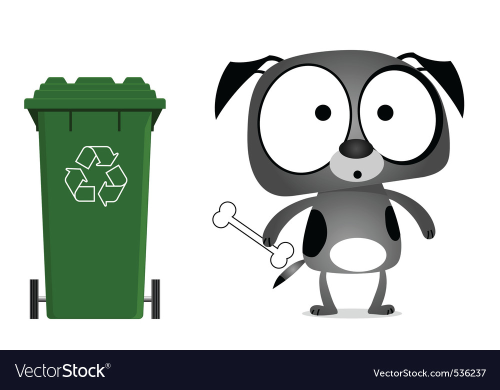 Dog recycling message vector | Price: 1 Credit (USD $1)