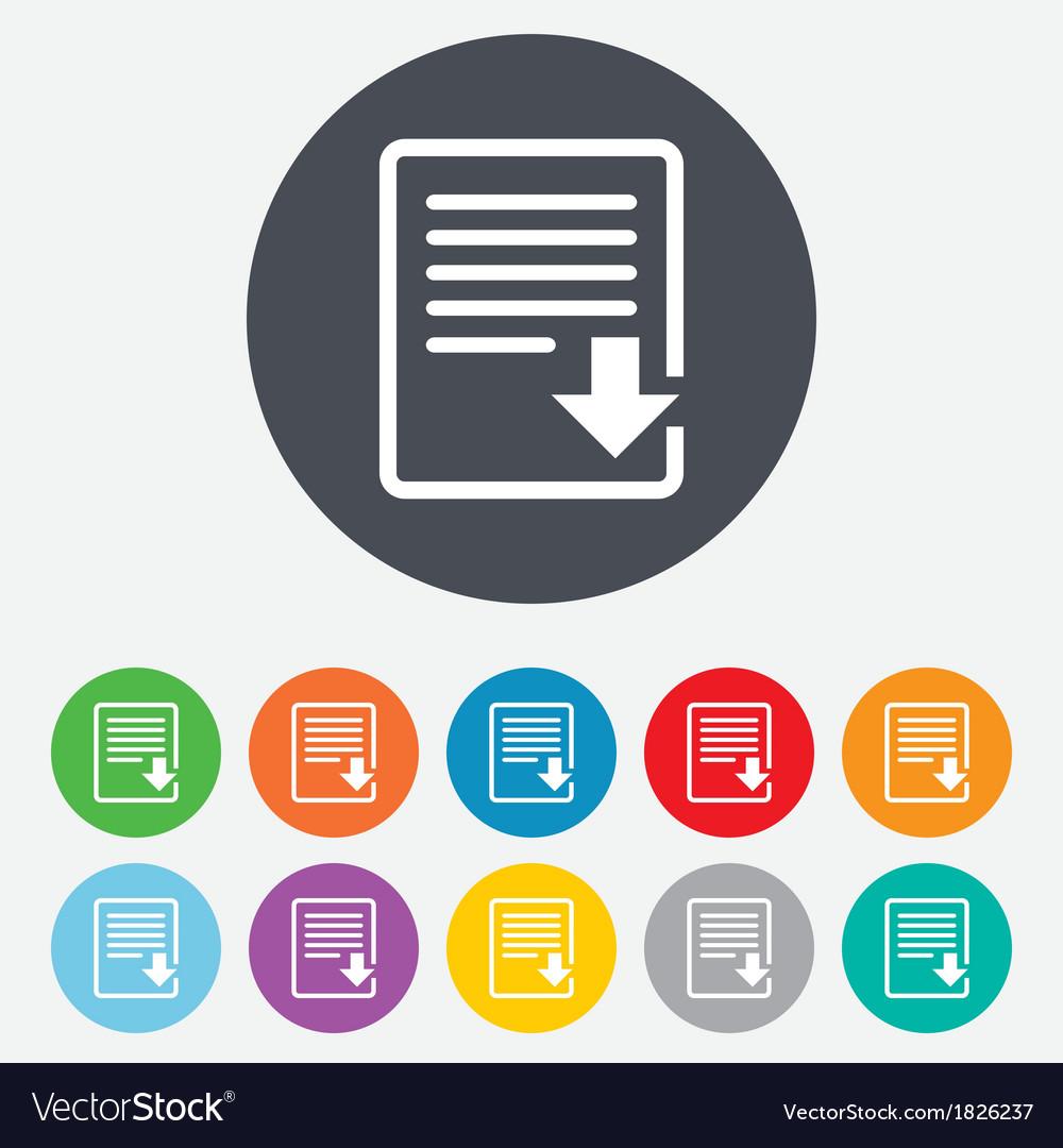 Download file icon file document symbol vector | Price: 1 Credit (USD $1)