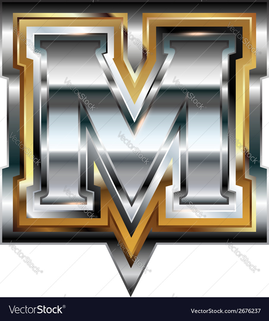 Fancy font letter m vector | Price: 1 Credit (USD $1)
