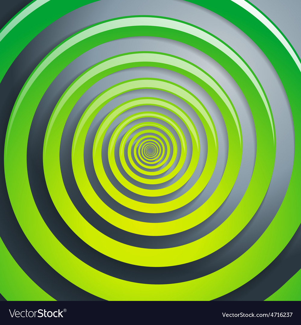 Green spiral and gray background graphic vector | Price: 1 Credit (USD $1)