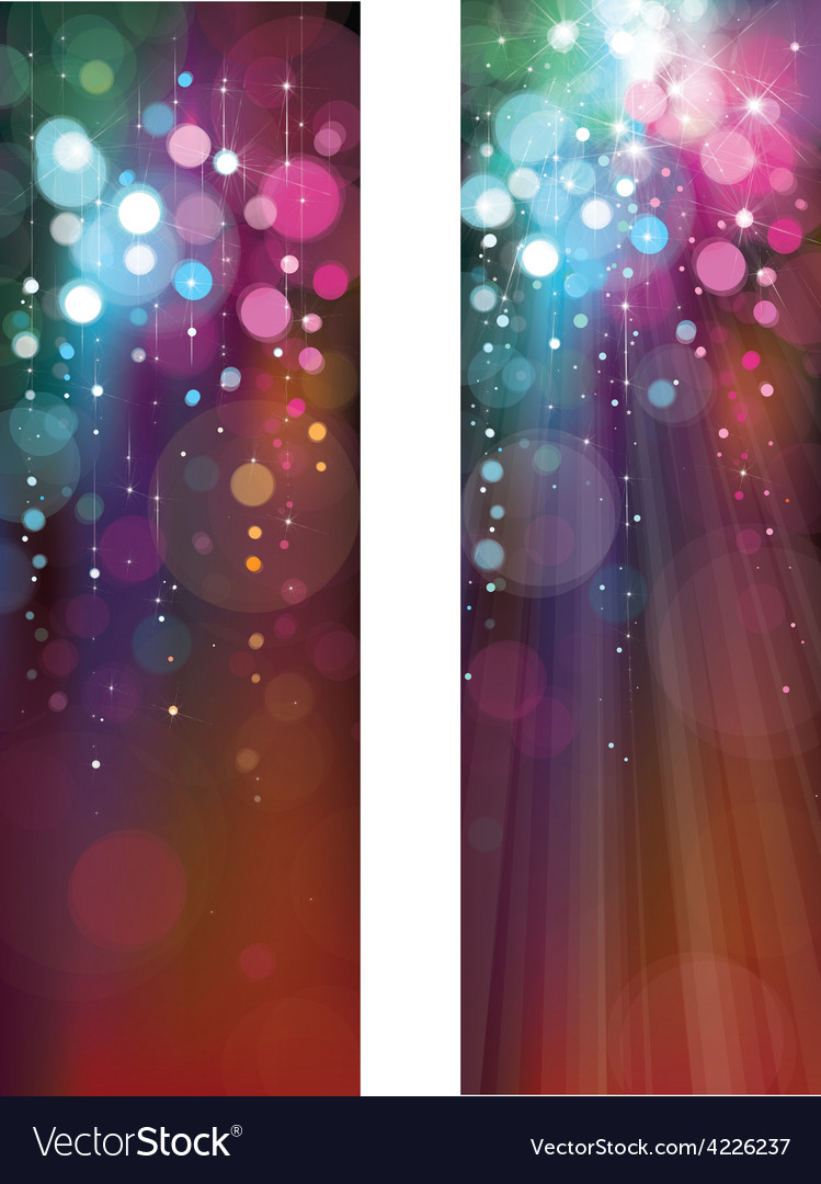 Lights banners vector | Price: 1 Credit (USD $1)