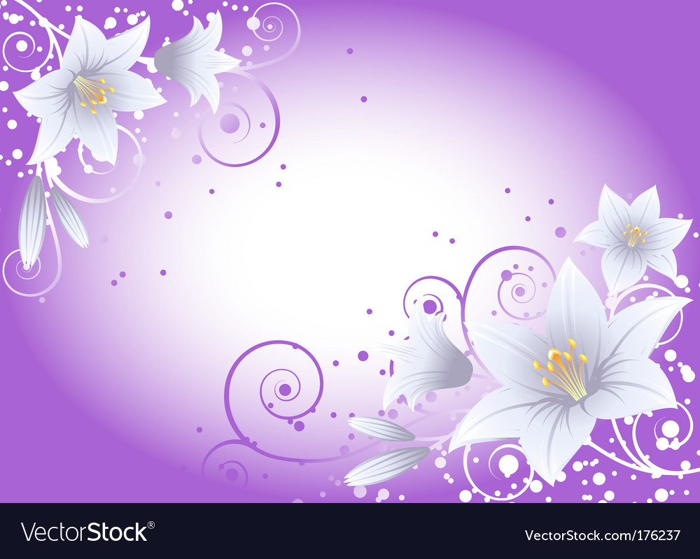 Lily background vector | Price: 1 Credit (USD $1)