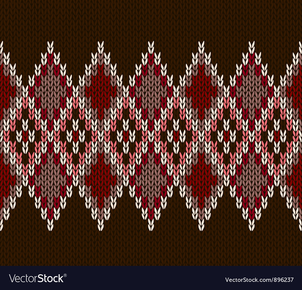 Seamless color knitted pattern vector | Price: 1 Credit (USD $1)