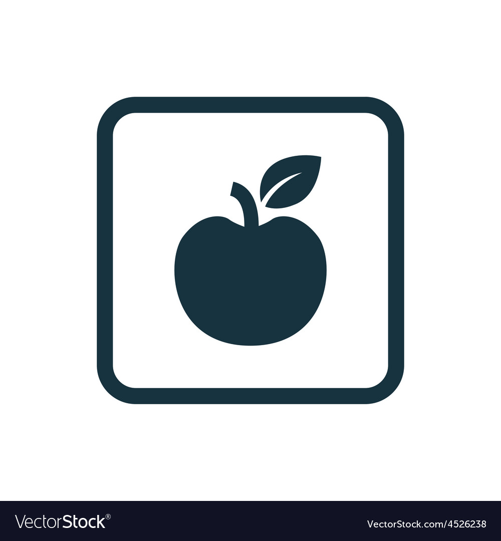 Apple icon rounded squares button vector | Price: 1 Credit (USD $1)