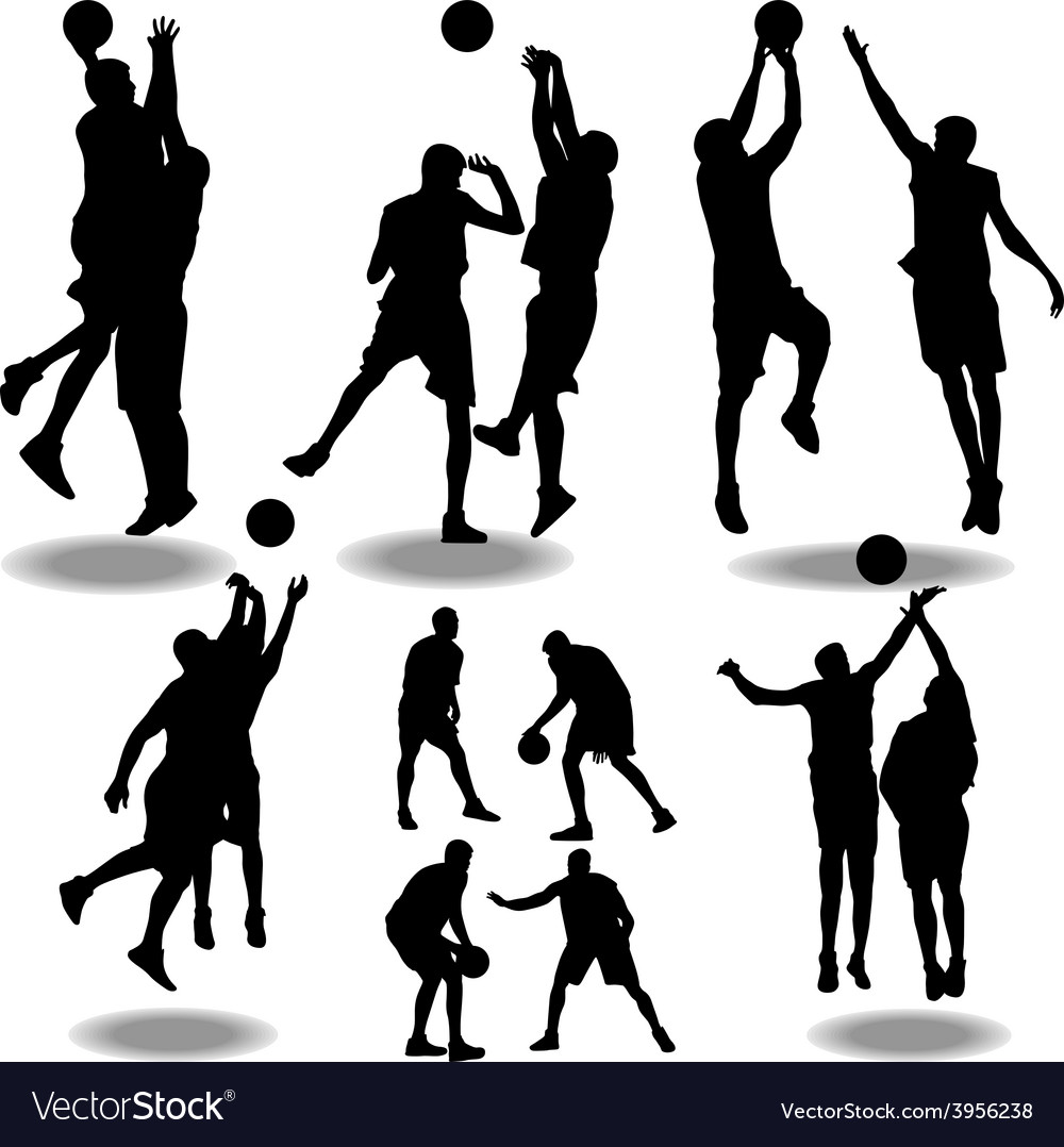 Basketball silhouette vector | Price: 1 Credit (USD $1)
