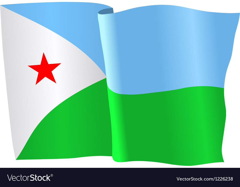 Flag of djibouti vector | Price: 1 Credit (USD $1)