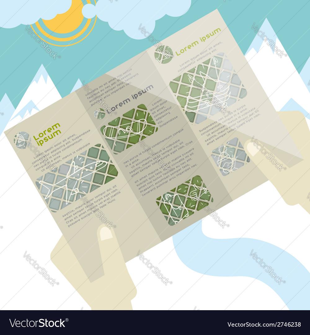 Flat design brochure template vector | Price: 1 Credit (USD $1)