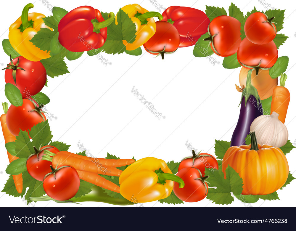 Frame made of vegetables vector | Price: 3 Credit (USD $3)