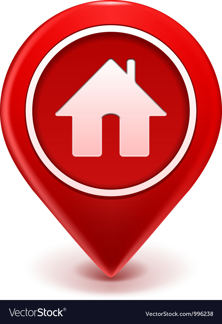 Home icon pin vector | Price: 1 Credit (USD $1)