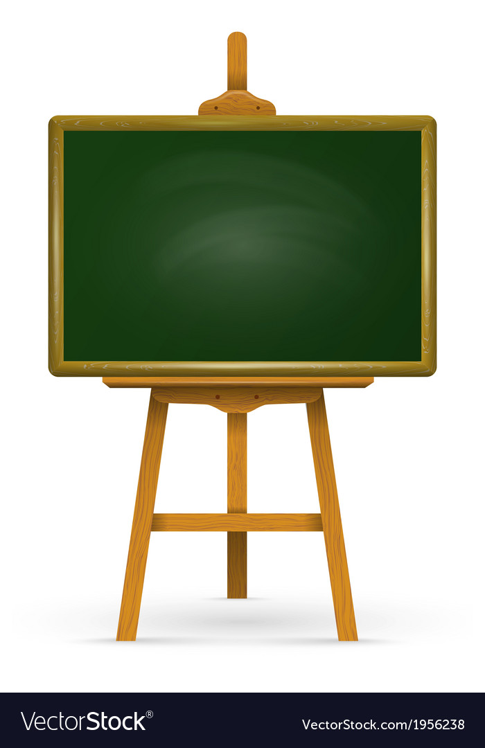 Wooden easel with school board vector | Price: 1 Credit (USD $1)
